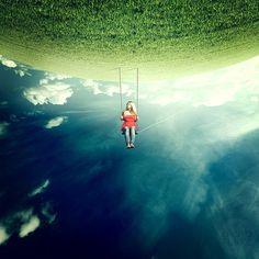 Anja Stiegler is a creative photographer and image artist from Wolfsburg, Germany. Most of her images are a mixture of surrealism and conceptualism and takes us Manipulation Photography, Photo Manipulation, Creative Photos, Cool Photos, Amazing Photos, Creative Photography, Art Photography, Perspective Photography, Photography Editing