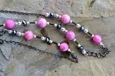 Long Necklace Pink Kunzite Gemstone Handmade Beaded by LKArtChic