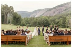 Wedding ceremony at Lonesome Valley