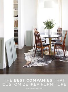 The Best Companies That Customize IKEA Furniture // IKEA hack, furniture legs, cabinets