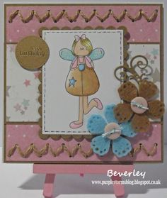 Bev's Little Craft Room: Creative Craft Challenge - Stitch in Time card