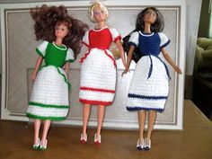 Two Color Short Dress - Hazel3Crochets