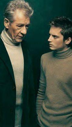 Elijah Wood and Sir Ian McKellen (Frodo and Gandalf)