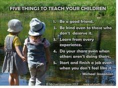 5 Things to Teach Your Child