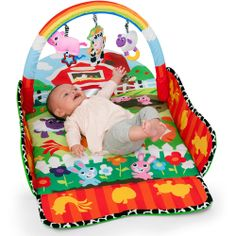 Infantino Farm Puppet Play-with-Me Gym - Cute for a little country baby!