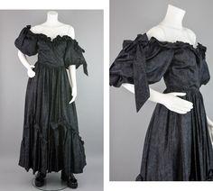 Vintage Prom, Vintage Dresses, Vintage Outfits, Vintage Black, Puffy Wedding Dresses, Black Prom Dresses, Formal Dresses, 80s Prom, Gothic Dress