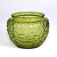 #Vintage #Green #Glass Bowl #Planter / #Vase by EO Brody by OneRustyNail