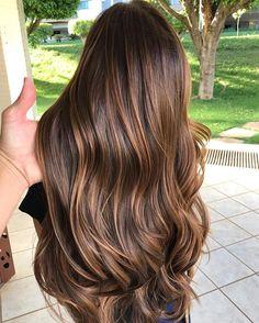 Such a pretty hair color Highlights For Dark Brown Hair, Brown Hair Balayage, Brown Blonde Hair, Light Brown Hair, Light Hair, Hair Highlights, Brunette Hair, Cabello Hair, Hair Color And Cut