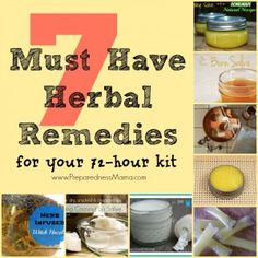 It doesn't matter if you call it a survival kit, 72 hour kit or bug-out-bag. If there's an emergency and you need to evacuate you are going to need your kit to be comfortable and safe. Healing Herbs, Medicinal Herbs, Natural Healing, Homeopathic Remedies, Health Remedies, Natural Medicine, Herbal Medicine, 72 Hour Kits, First Aid Kit
