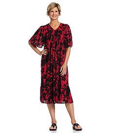 1b6e265e39 Go Softly Patio Crinkle Rayon Floral Patio Dress