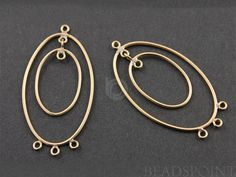 Gold Filled Double Oval Hoop Chandelier Earring by Beadspoint, $14.99