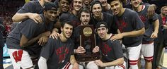 The Badger men's Basketball team is winning fans with their off-the court charm offensive. Badger Sports, Final Four, Wisconsin Badgers, March Madness, Basketball Teams, Falling In Love, Arizona, America, Baseball Cards