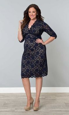 Check out the deal on Scalloped Boudoir Dress in Vintage Lace-Sale! at Kiyonna Clothing Plus Size Cocktail Dresses, Plus Size Maxi Dresses, Plus Size Outfits, Nice Dresses, Curvy Fashion, Plus Size Fashion, Style Fashion, Plus Size Womens Clothing, Clothes For Women