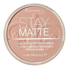 Rimmel London Stay Matte Powder is a mattifying powder formulated to prevent shine. The powder goes on smooth to even out skin tone, offering a natural, matte fi. Mascara, Eyeliner, Eyeshadow, Best Compact Powder, Matte Primer, Daily Beauty Tips, Talc, How To Apply Foundation, Luminizer