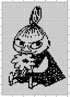 Bilderesultat for moomin knitting pattern Beaded Cross Stitch, Cross Stitch Charts, Cross Stitch Embroidery, Cross Stitch Patterns, Hama Beads Patterns, Beading Patterns, Embroidery Patterns, Knitting Charts, Baby Knitting
