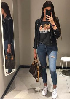 Best Jeans For Women Denim Jean Joggers Womens – bueatyk Simple Fall Outfits, Cute Casual Outfits, Chic Outfits, Summer Outfits, Girl Outfits, Fashion Outfits, Fashion Ideas, About You Mode, Mode Instagram