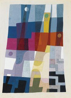bal-bullier: Porte le cachet. Sophie Taueber-Arp (1926).