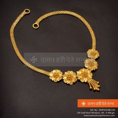 Explore the trendy collection of gold necklace set at Waman Hari Pethe Sons. Jewelry Design Earrings, Gold Earrings Designs, Gold Jewellery Design, Necklace Designs, Jewelry Sets, Gold Necklace Simple, Gold Jewelry Simple, Unique Necklaces, Gold Necklaces