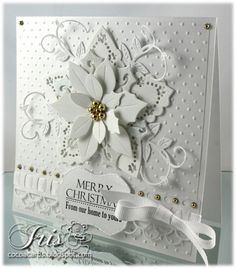 white on white poinsettia card - bjl