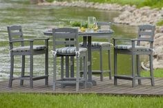 Love The Color Of The La Casa Cafe 5 Piece Bar Height Patio Set Bar Height