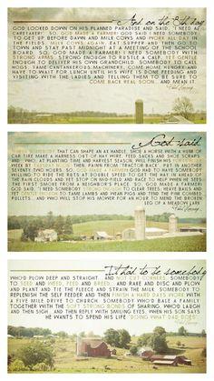 So God Made a Farmer (Complete Series)   Would make BEAUTIFUL posters!   https://www.facebook.com/media/set/?set=a.445632488842031.101218.274901575915124=1=24d574e1a8