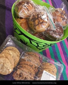 Photo of the Day - Thanks to Katherine and her granddaughter for dropping off these treats for our hospitality house guests!
