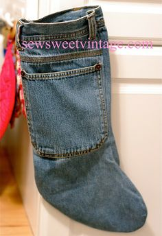 Sew Sweet Vintage: Denim Christmas Stocking