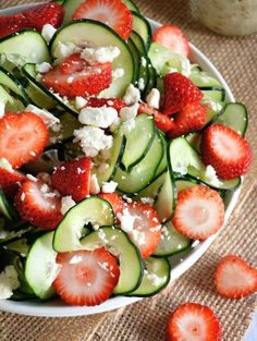 Cucumber-Strawberry-Poppyseed-Salad