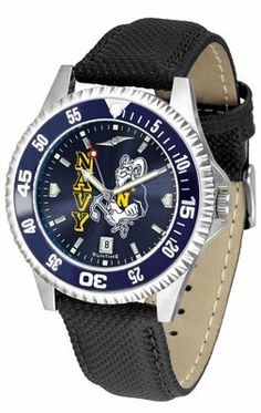 Naval Academy Midshipmen- United States Competitor Anochrome- Poly/leather Band W/ Colored Bezel - Men's by Sports Memorabilia. $78.73. Makes a Great Gift!. Naval Academy Midshipmen- United States Competitor Anochrome- Poly/leather Band W/ Colored Bezel - Men's