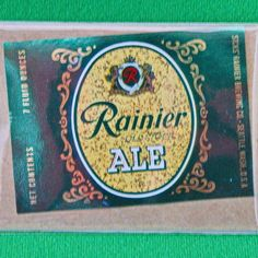 One Vintage Rainier Old Stock Ale (Seattle, WA) 7-Ounce Container Label