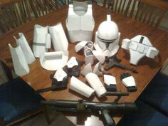 make your own cardboard clone trooper costume. awesome!!!