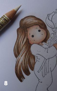 Hallo allemaal,     Hieronder laat ik zien hoe ik met mijn potloden, zowel Faber Castell als Prisma's (maar ook alle andere) mijn afdrukjes...