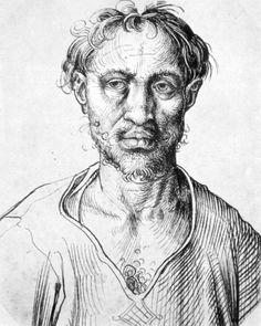 Portrait of a man. by Martin Schongaeur