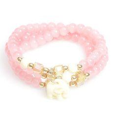 Zenzii Radiant Elephant Bracelet - Peach