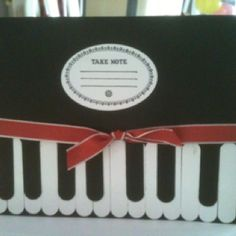 Keyboard birthday card.  Made this for one of my daughters best friends, Josh. He is really into music. Cased from Elizabeth Ann Sanders on Stampin' Connection.