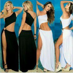 Preciosos vestidos de fiesta en la playa..