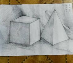 First sketching practice when entry ed the high school class 4.