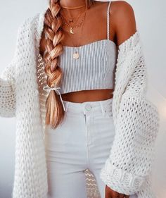 Teen Fashion Outfits, Look Fashion, Outfits For Teens, Fall Outfits, Womens Fashion, Fall Fashion, Fashion Hair, Spring Tumblr Outfits, Teenager Outfits