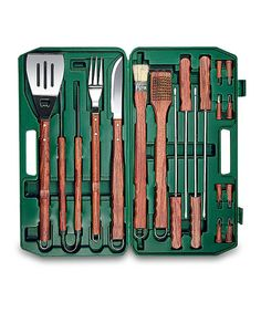 Take a look at this Hunter Green 18-Piece Barbecue Set by Picnic Time on #zulily today!