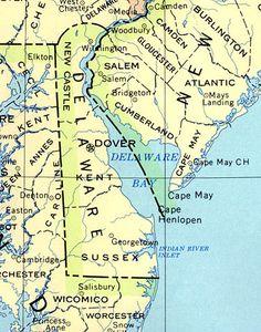11 best Delaware images on Pinterest | Map of delaware, 50 states ...