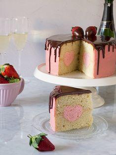 Tarta San Valentin de Fresa y Champagne