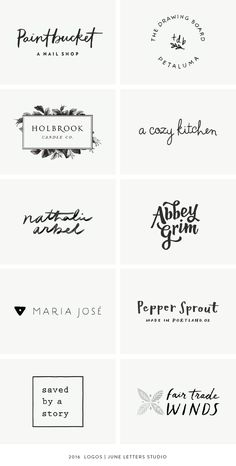 A Year in Review: 2016 Logos — June Letters Studio