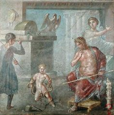 Hercules Strangling the Serpents, House of Venttii, Pompeii, A.D. 63-79 fresco