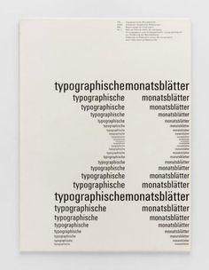 TM Typographische Monatsblätter, issue 2, 1961. Cover designer: Emil Ruder