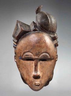 Masque portrait Baoulé, ndoma