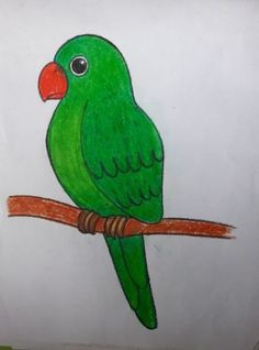 Easy drawings for kids, small drawings, drawing for kids, paintin Bird Drawing For Kids, Basic Drawing For Kids, Drawing Lessons For Kids, Easy Drawings For Kids, Small Drawings, Bird Drawings, Painting For Kids, Cartoon Drawings, Art Lessons