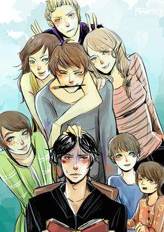 The Blackthorn siblings: Mark, Livia, Jules, Helen, Drusilla, Tiberius, Octavius, Ariadne