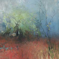 Painter's Process - Randall David Tipton Fanno Creek Fog oil on canvas 36x36
