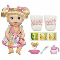 Pick A Baby Alive Doll, I use to feed her real food...had to throw away because she started to stink! !!