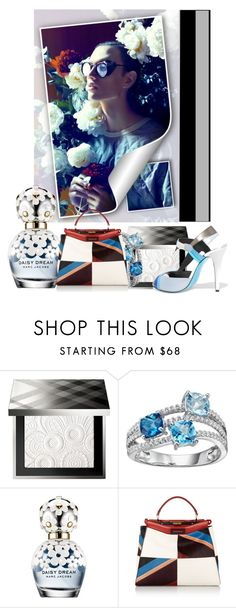 """Pure feelings #1."" by babysnail ❤ liked on Polyvore featuring Burberry, Marc Jacobs, Fendi, white, flower, marcjacobs and fendi"